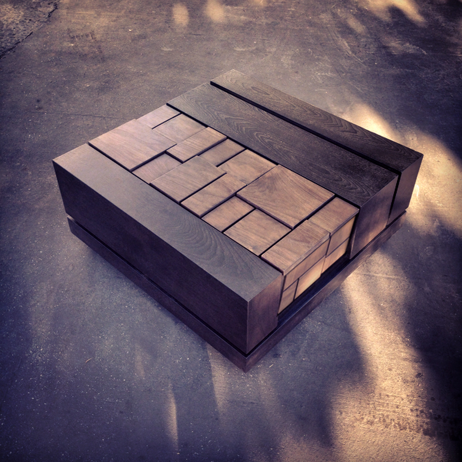 Abaci Walnut 34 Square Coffee Table by Farzan Nemat