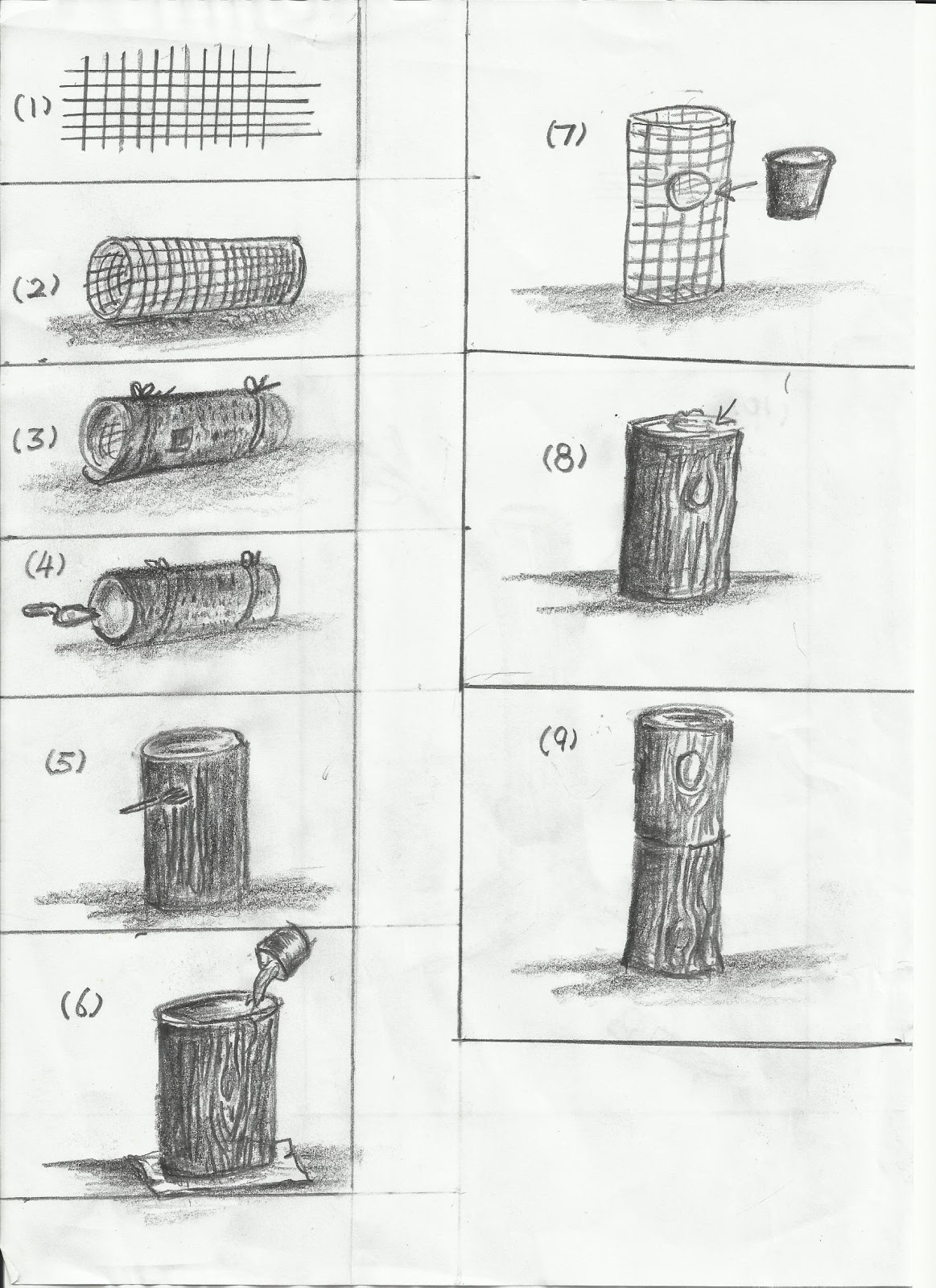 theperanakanconnection  how to make a fake tree trunk  stump for your garden