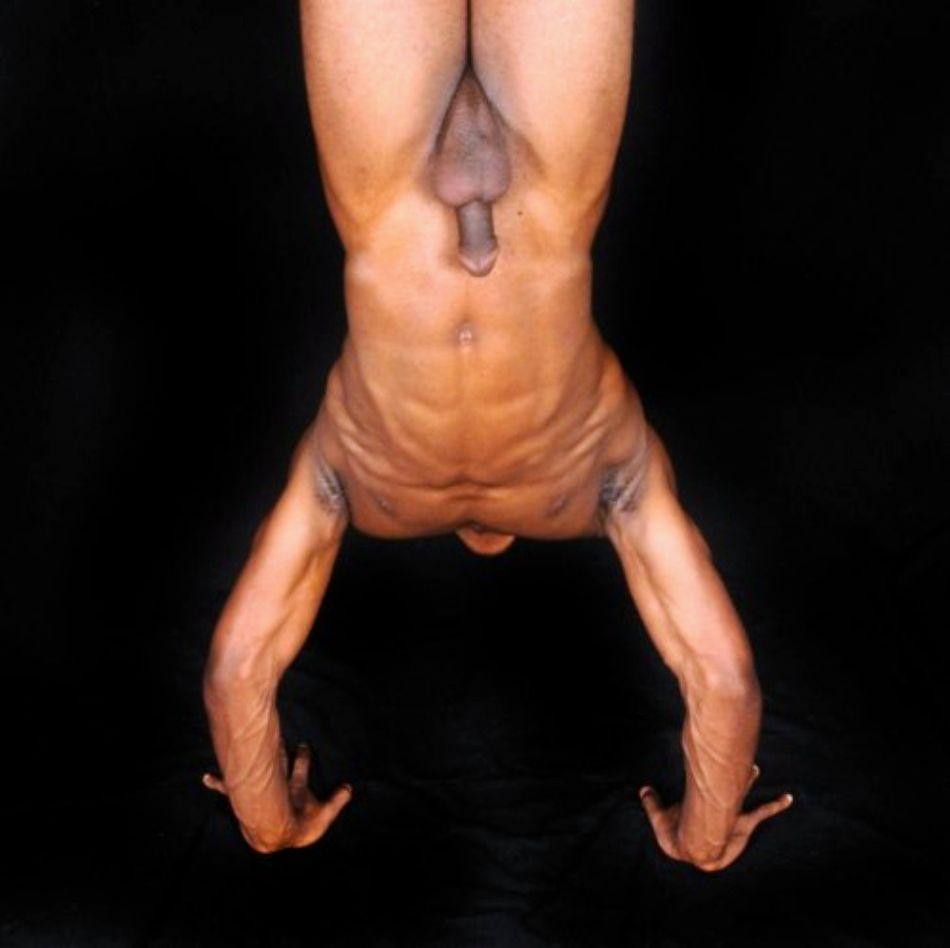 hanging nude boys upside down
