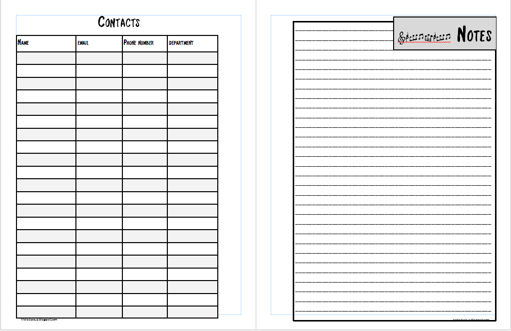 MelodySoup blog 20152016 Revised Music Teacher Planner Chapter – Communication Log Template