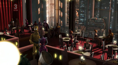 starwars clonewars restaurant with droids