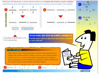 http://www.gobiernodecanarias.org/educacion/3/WebC/eltanque/todo_mate/fracciones_e/ejercicios/fracciones_mcm_p.html