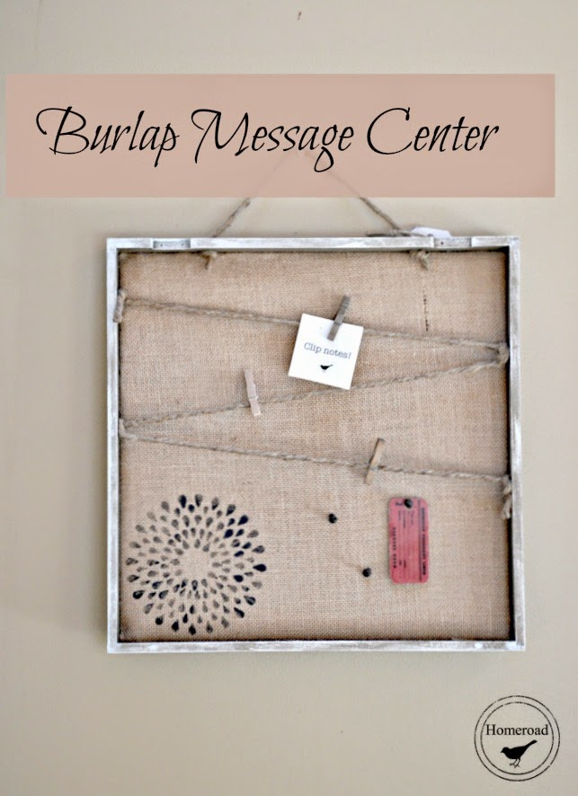 Burlap Message Center www.homeroad.net