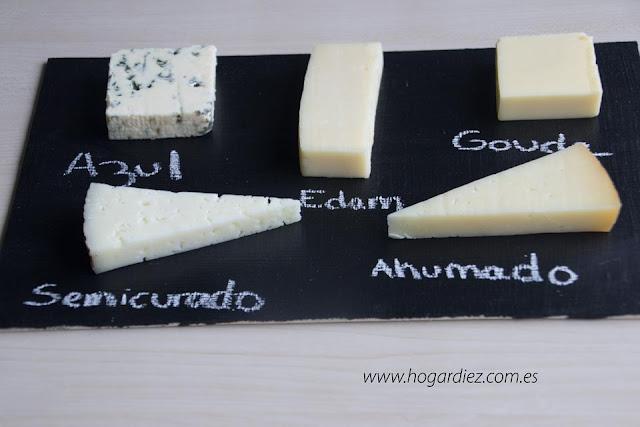 Tabla pizarra para quesos diy