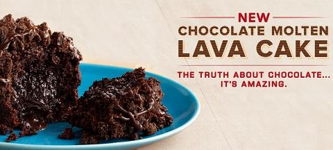 Arby's chocolate molten lava cake