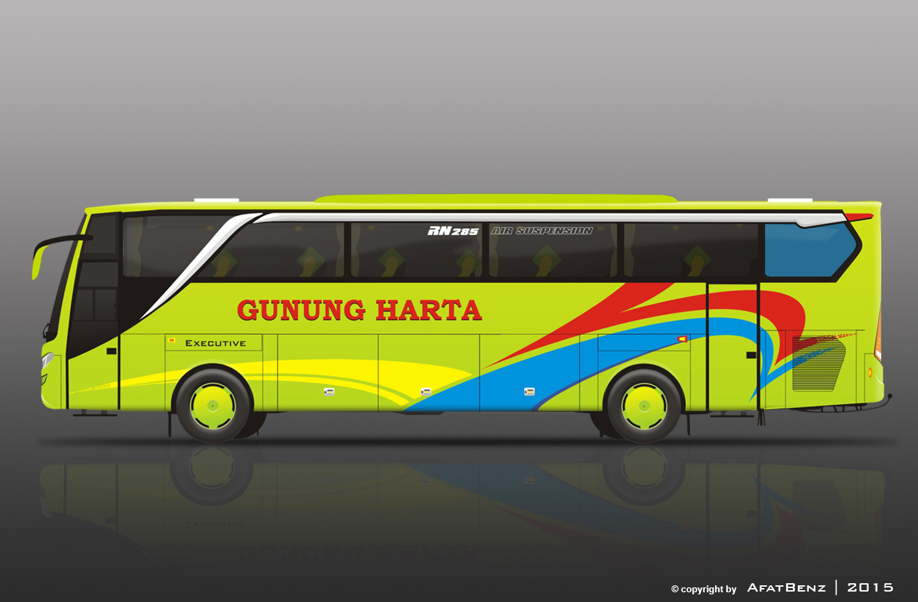Jasa Design Livery Bus, Medium Bus, Elf, Truck | AfatBenz ...