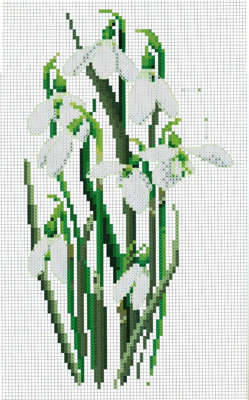 подснежник - вышивка. Snowdrop - embroidery