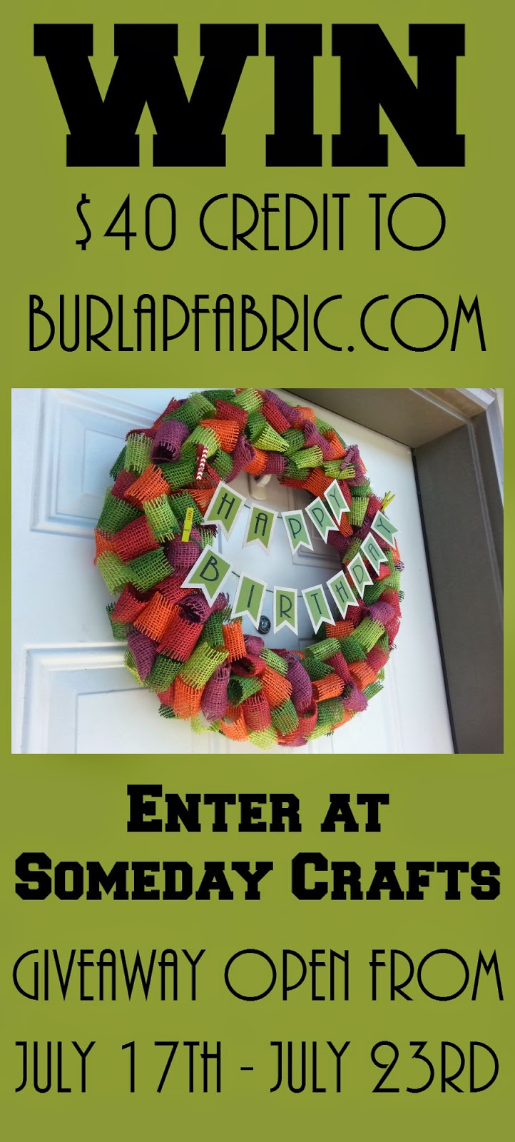 http://somedaycrafts.blogspot.com/2014/07/40-credit-giveaway-to-burlapfabriccom.html