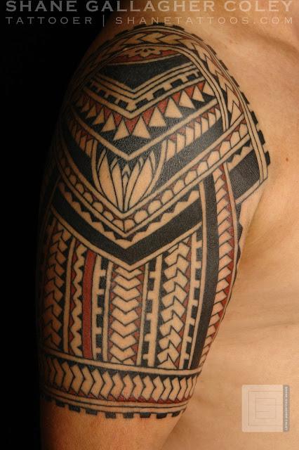 Maori polynesian tattoo polynesian half sleeve for Polynesian tattoos sleeves