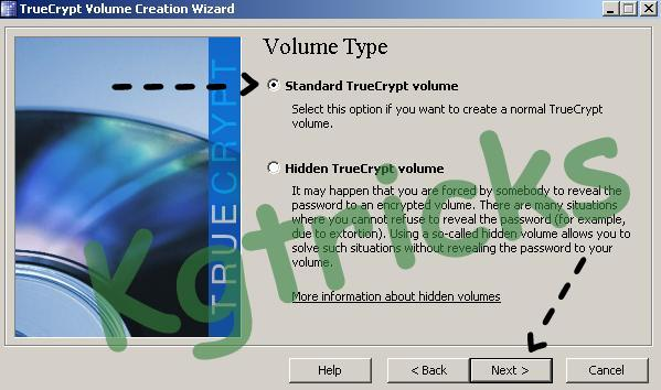 Create a Standard True Crypt Volume