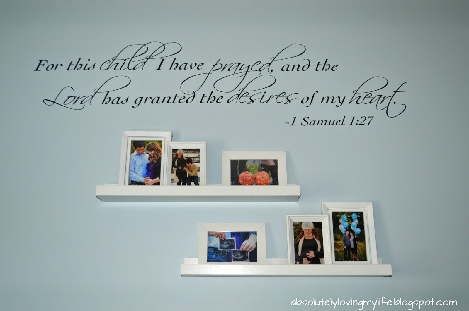 Loving Life: Spray Painted Picture Frames & Photos as Wall Art