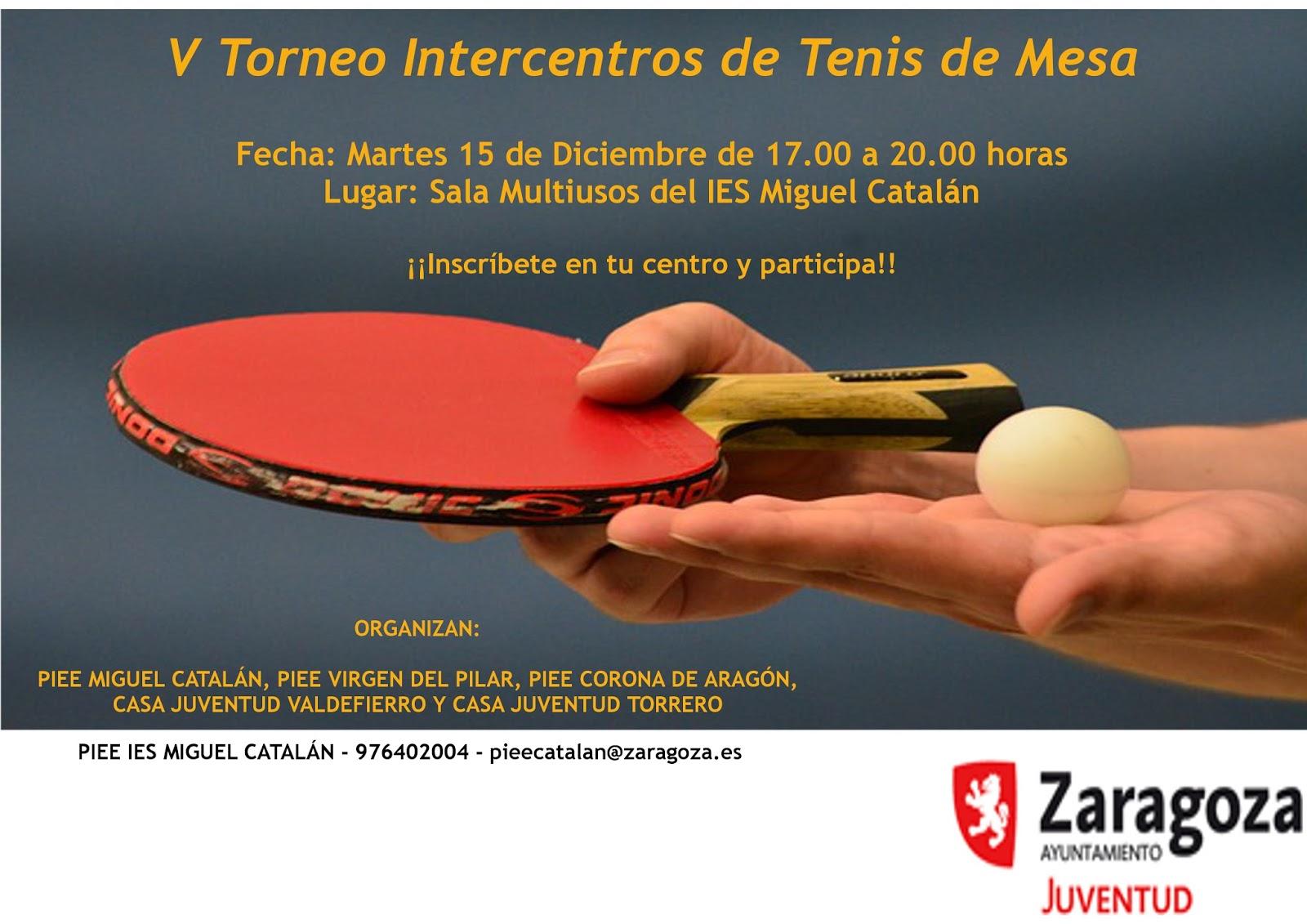 Deportejoven zgz torneo tenis de mesa - Torneo tenis de mesa ...
