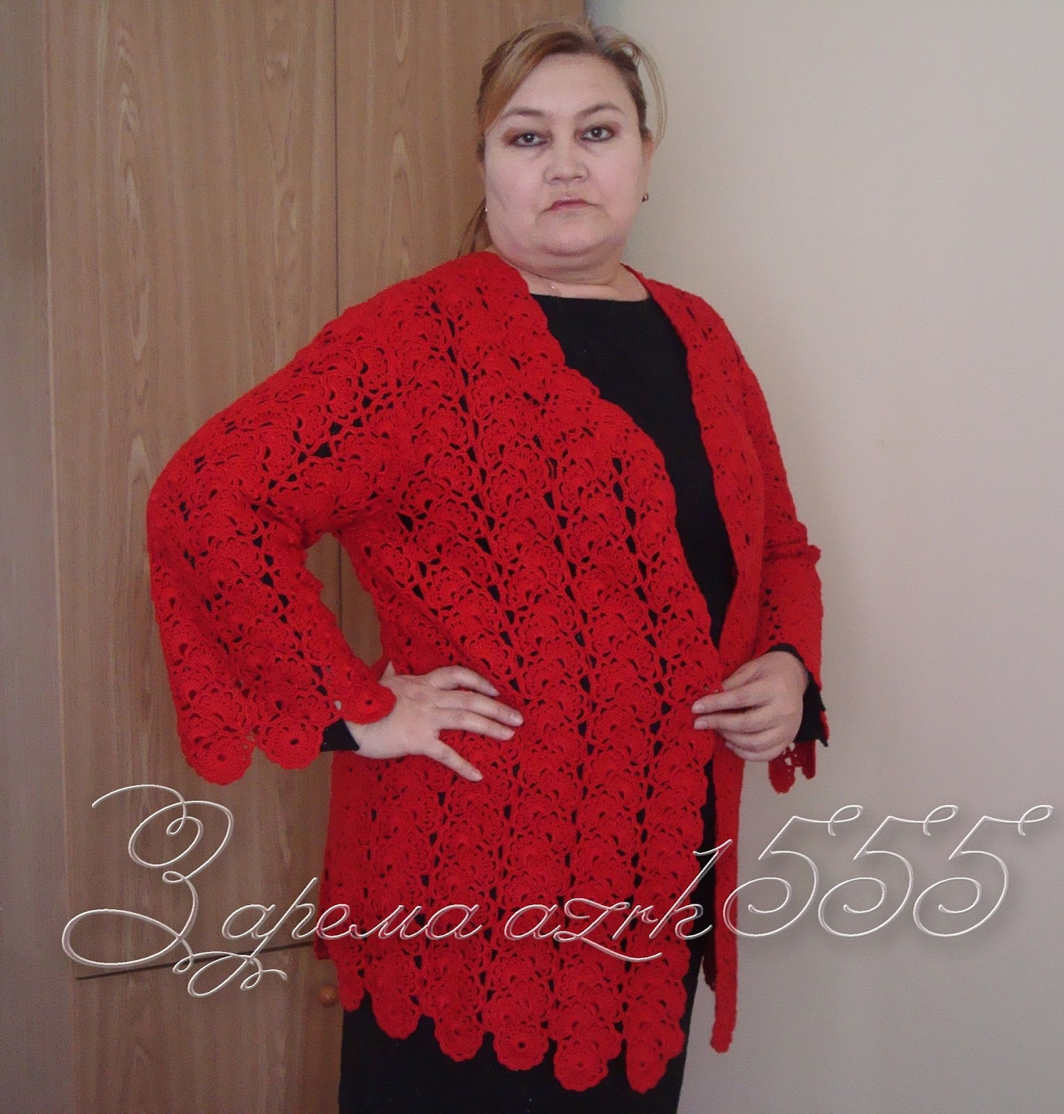 Кардиган ленточное вязание