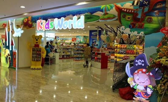 Trung tâm mua sắm phục phục cho trẻ em ở Vincom Mega Mall Times City