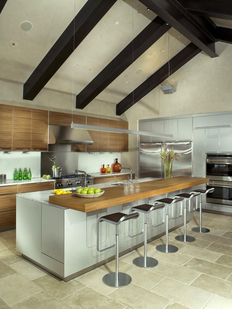 House ideas open concept cocina sala comedor for Mountain kitchen designs