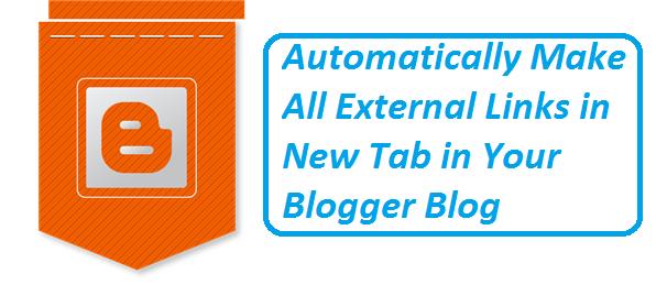 External Links in Blogger