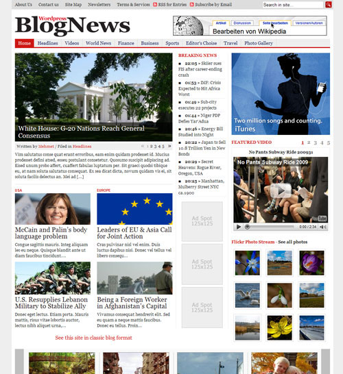 BlogNews Gabfire Premium WordPress Theme