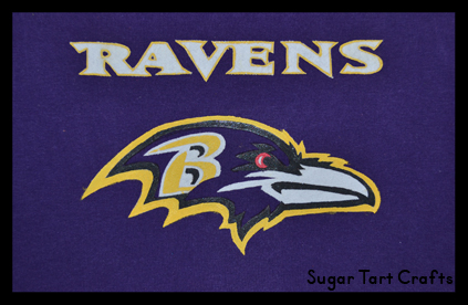 Hand-painted Baltimore Ravens Logo