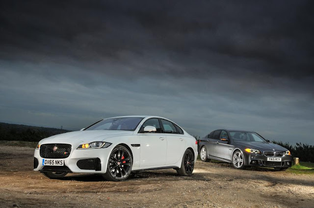 Compare Among BMW 5 Series vs Jaguar XF  front view
