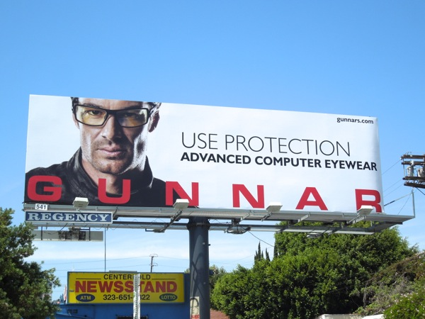 Gunnar eyewear Use Protection billboard