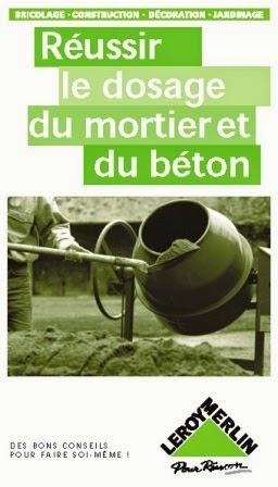 topographie reussir le dosage du mortier et du beton. Black Bedroom Furniture Sets. Home Design Ideas