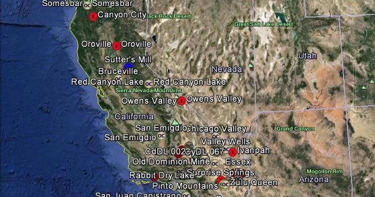 Meteorite Maps And Impact Craters Worldwide California Meteorites Map