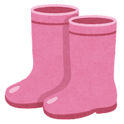 ピンクの長靴のイラスト