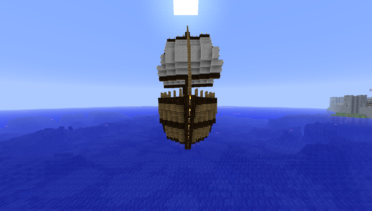 how to build a minecraft house boat