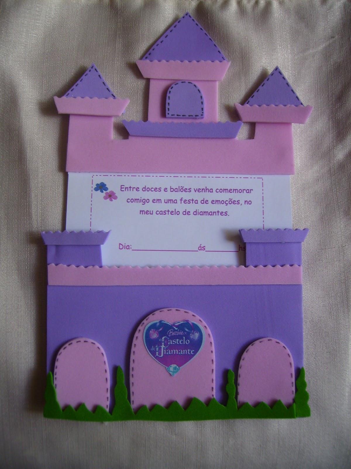 Adoram A Barbie  T   A   Uma Op    O De Convite  O Castelo Diamante