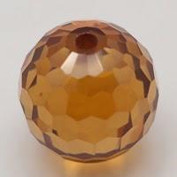 champagne cz beads ball