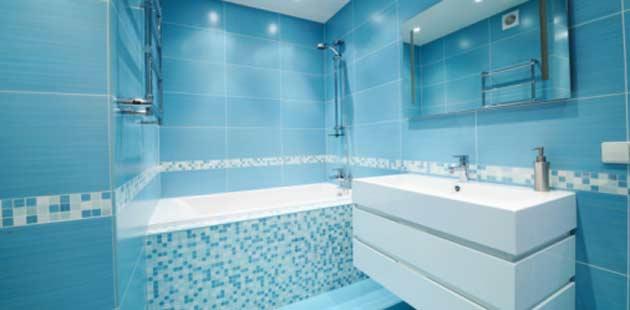 No banheiro, o azul u00e9 a cor queridinha!