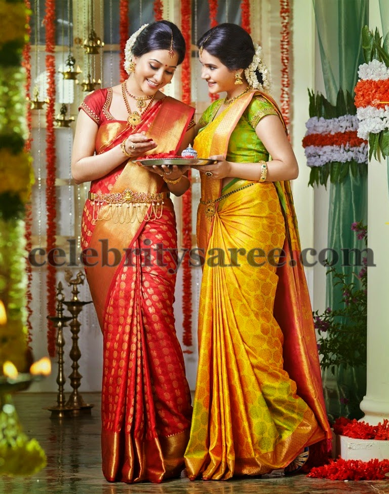 Ritu Barmecha Benaras Red Saree