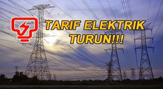 Tarif Elektrik Bakal Turun Mac Ini