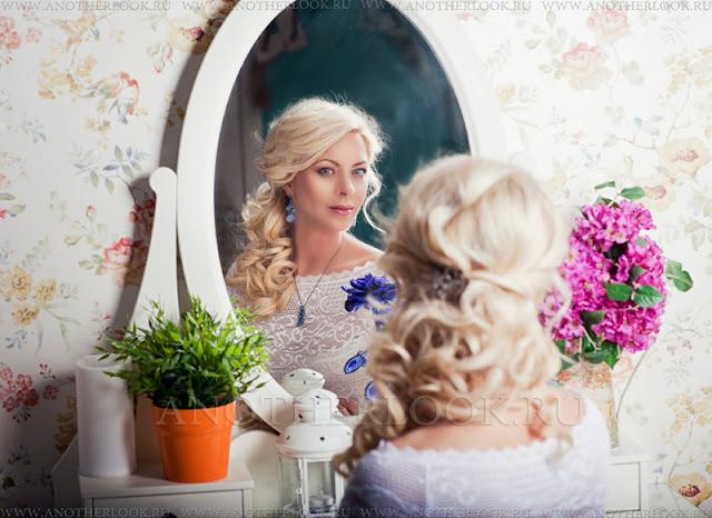 красивая фотосессия с зеркалом