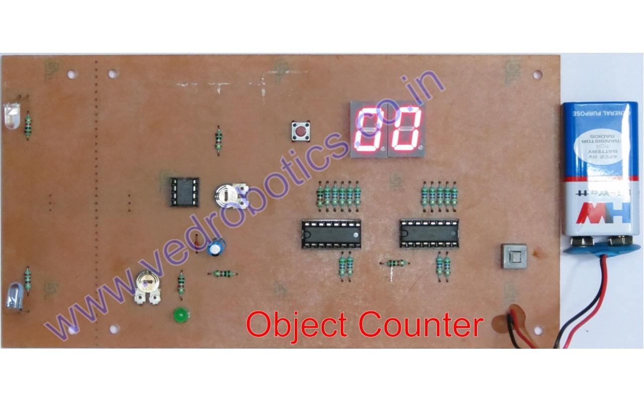 Objectcounterldr Sensor Circuit Ldr Noteherewe Used Darkness Detector And Dont Worry Well Also Post Simplest Herewe Showing Given