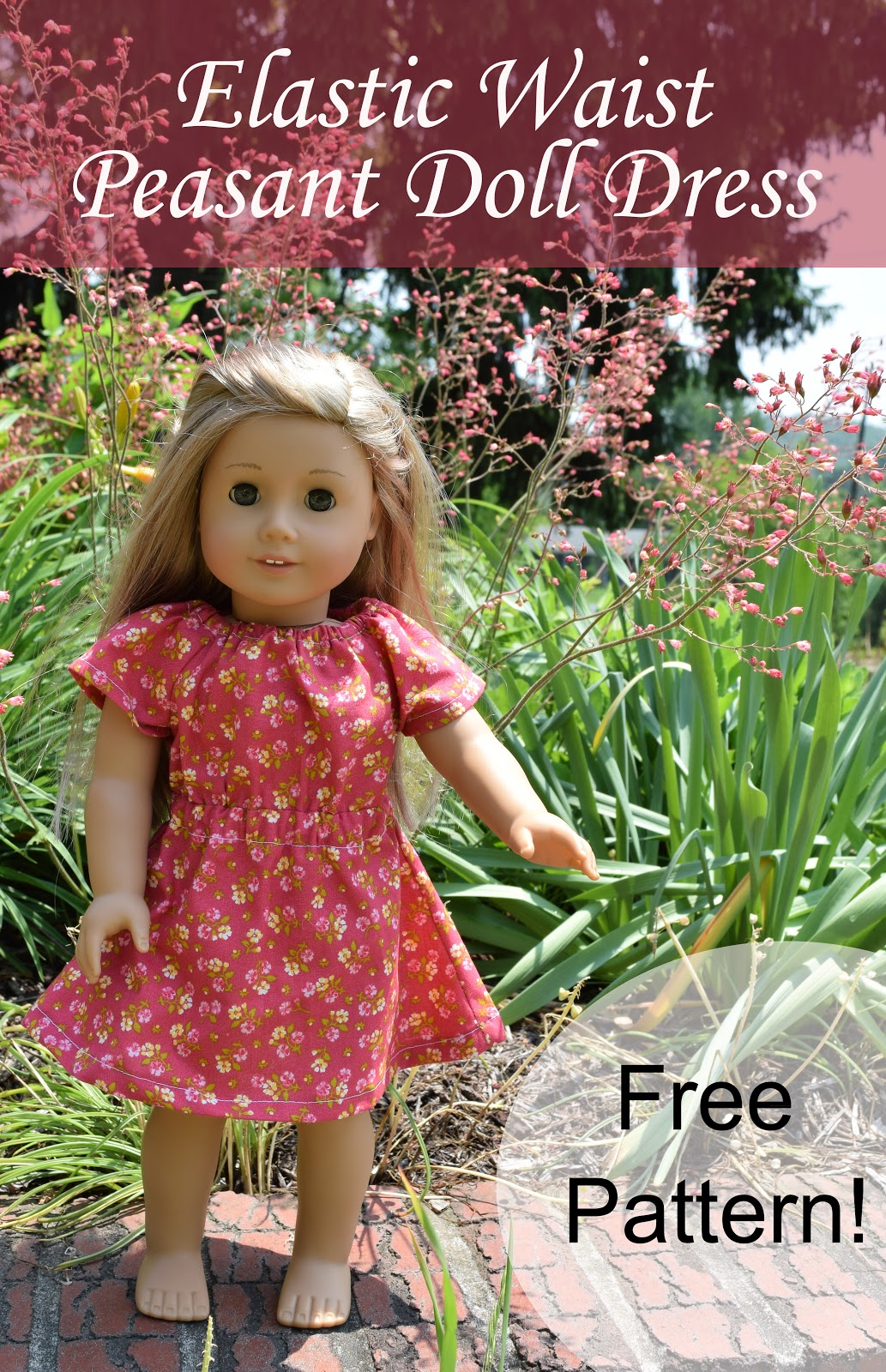 Elastic Waist Doll Dress Pattern | PA Country Crafts