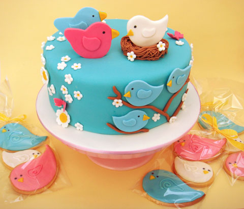 Bird Shower Cake