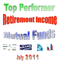 Top Performer Retirement Income Mutual Funds July 2011