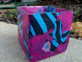 Hot Pink And Blue Zebra Container