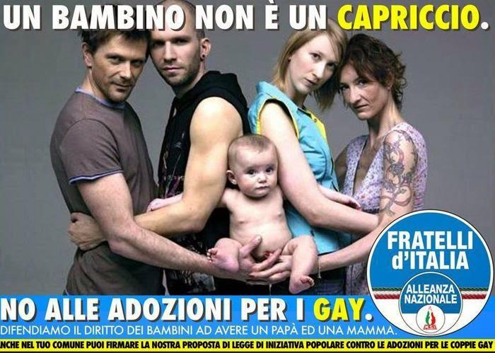 ADOZIONI PER I GAY - IL MANIFESTO DELLA POLEMICA