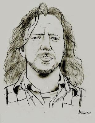 Desenho do Eddie Vedder