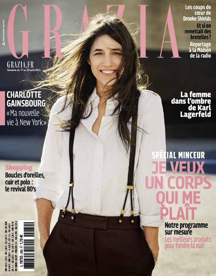 Actress, Singer @ Charlotte Gainsbourg - Grazia France, April 2015