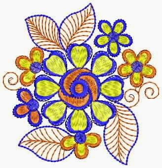 Floral werk appliekwerk ontwerp