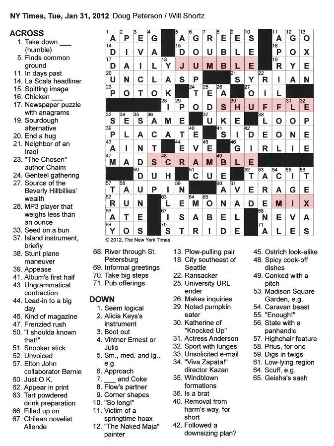 Dissertation Paper Crossword Clue