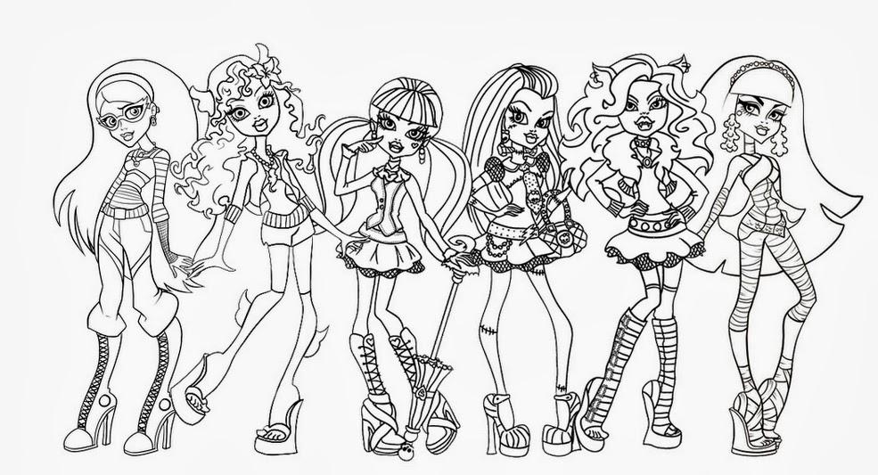 Desenhos para imprimir da Monster HighPintar Desenhos