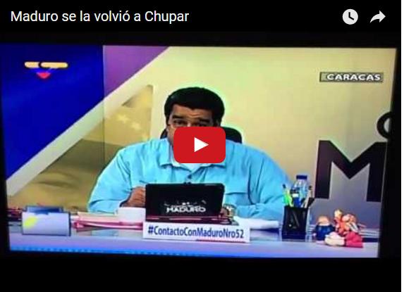 Maduro asegura nuevamente que se chupará lo que tenga que chuparse