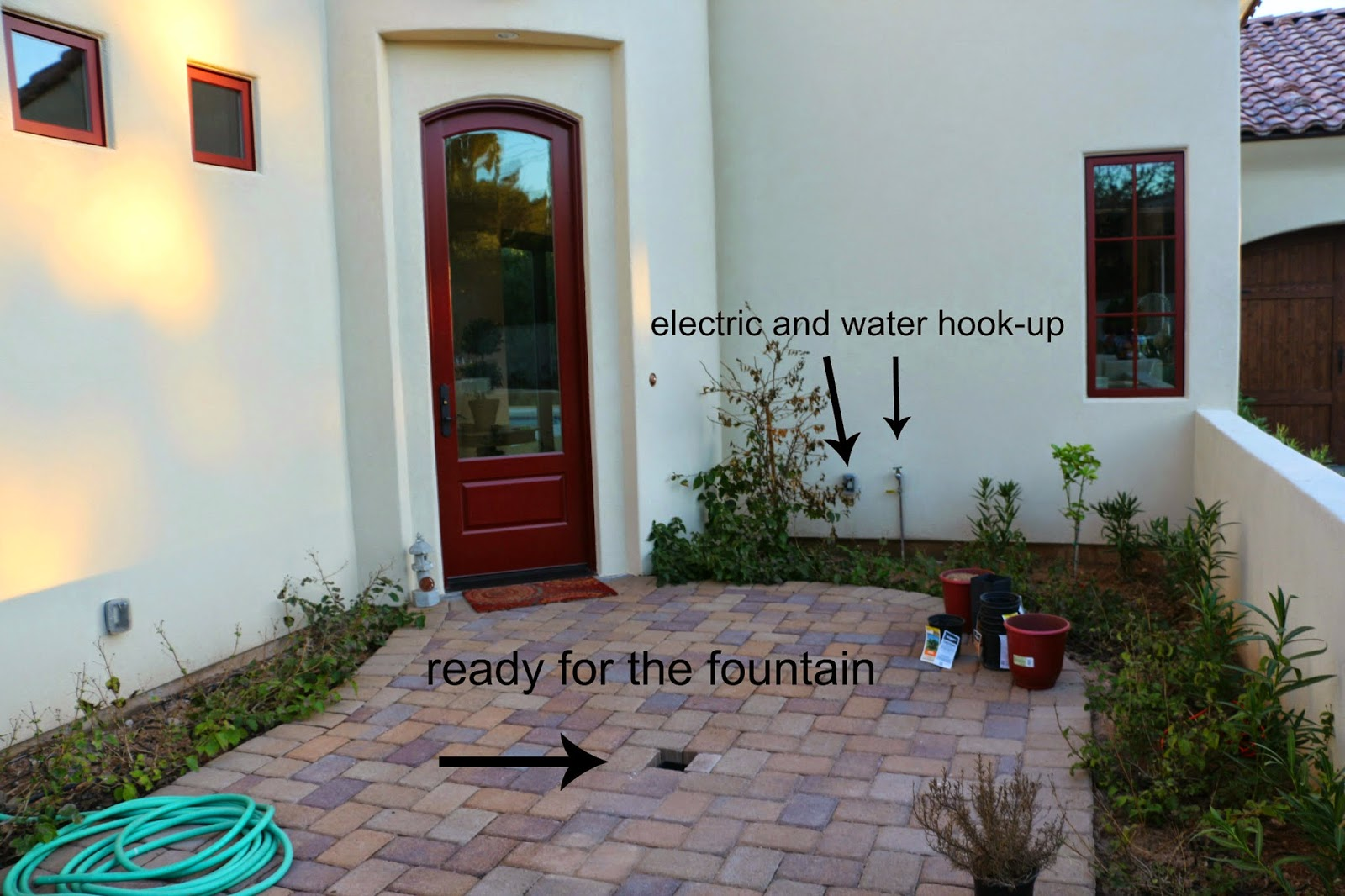 installing a garden fountain, how to install a garden fountain,