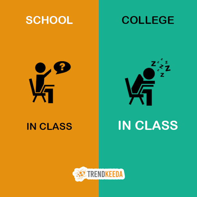 the differences between high school and college life Compare and contrast high school versus college essay - after going to high school for four years, college is definitely a step up there are similarities, but at the same time more differences there is still some required classes and homework, but they are different at the same time.