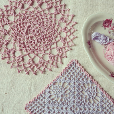 ByHaafner, crochet, doilies, pastel colours