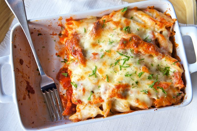 Seasaltwithfood Chicken Parmigiana With Penne Pasta